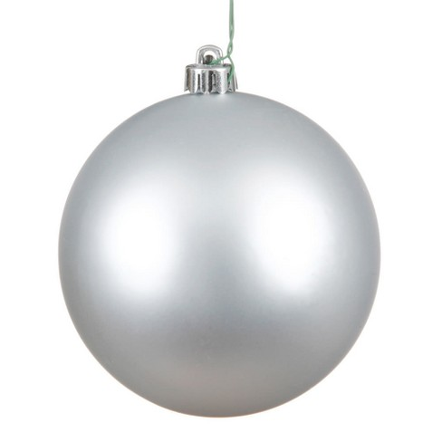 Vickerman 8 Silver Matte Ball Christmas Ornament Target