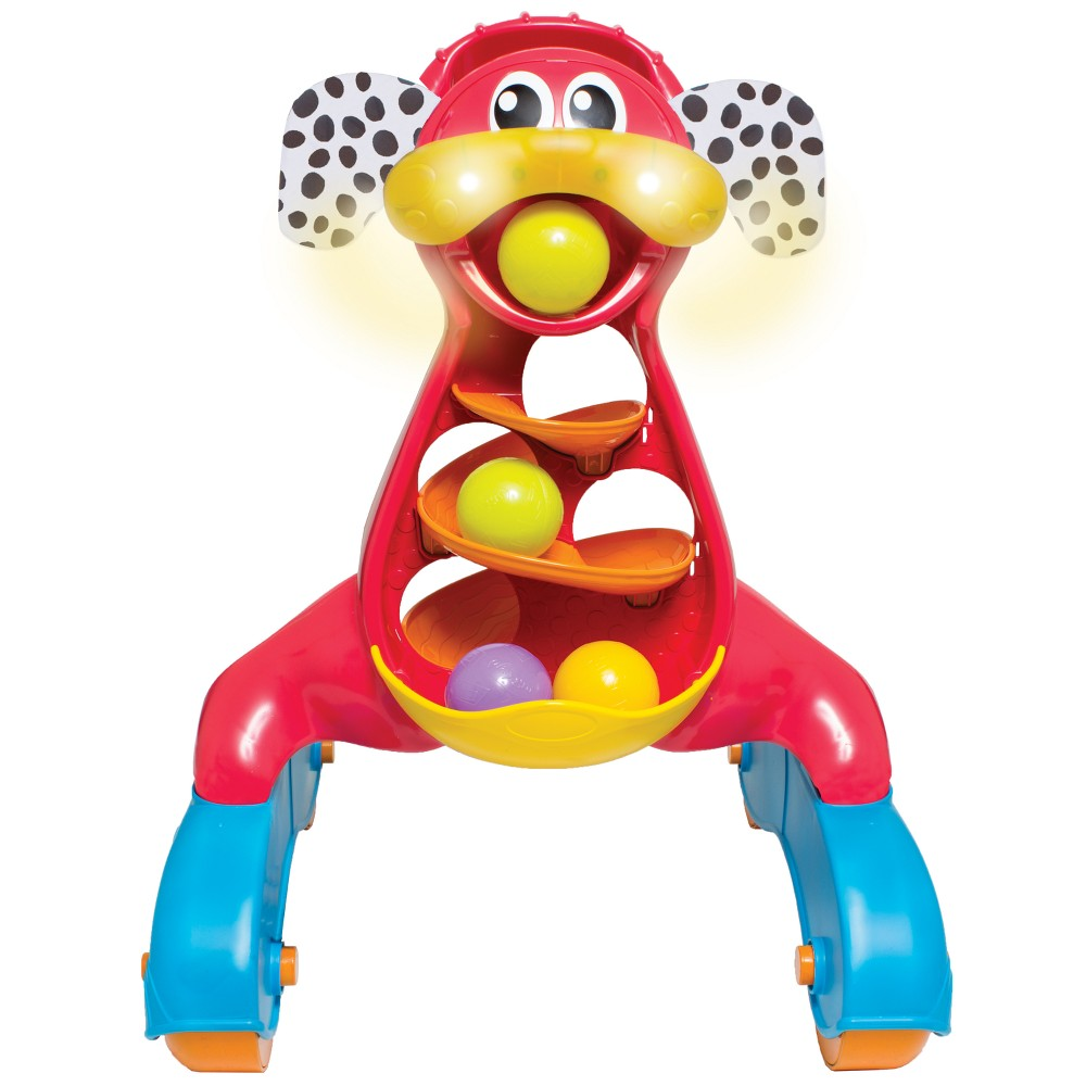 Image of Playgro Step by Step Music and Lights Puppy Walker - Red