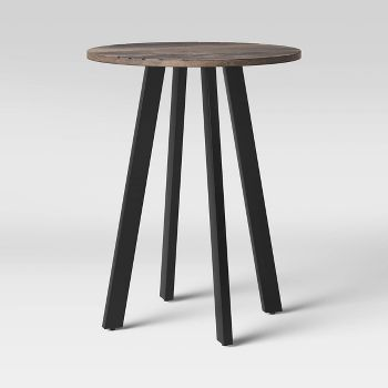 Project 62 Kenilworth Round Midcentury Modern Groove Top End Table