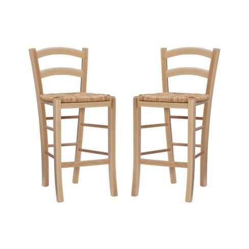 Set of 2 Emilo Counter Height Barstools - Linon - image 1 of 4