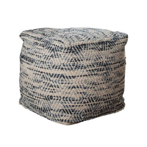 Barnby Pouf Ivory - Christopher Knight Home - image 1 of 4
