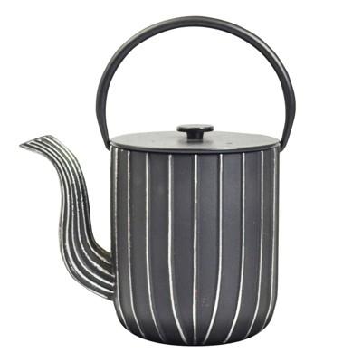 "Frieling ""Marage"", Cast Iron Teapot, 34 fl. oz., Black/Silver"