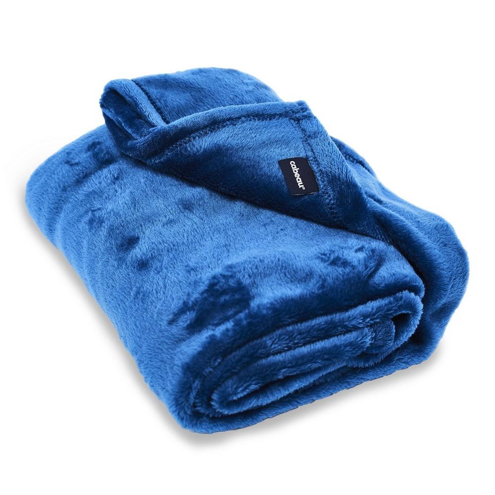 Image of Cabeau Fold 'n Go Travel Blanket with Travel Case - Royal Blue