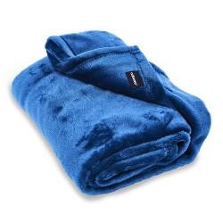 Cabeau Fold 'n Go Travel Blanket with Travel Case - Royal Blue