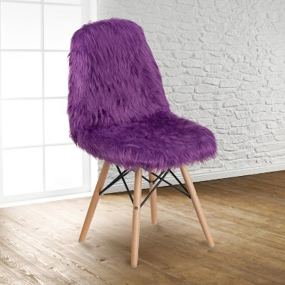 Emma and Oliver Shaggy Dog Fur Accent Chair
