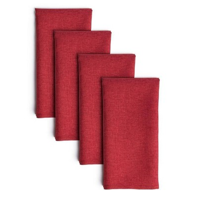 "4pk 20""X20"" Somers Napkins Red - Town & Country Living"