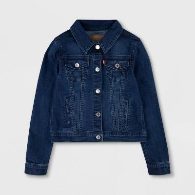 Levi's® Girls' Trucker Denim Jacket - Dark Wash