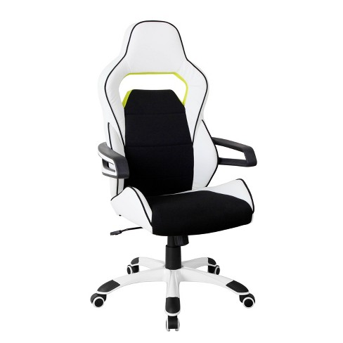 Ergonomic Essential Racing Style Home & Office Chair White - Techni Mobili - image 1 of 4