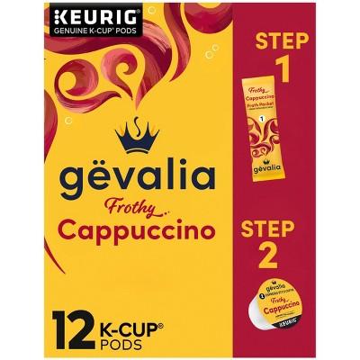 Gevalia Cappuccino Dark Roast Coffee Pods - 12ct