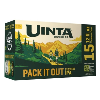 Uinta Pack It Out IPA Beer - 15pk/12 fl oz Cans