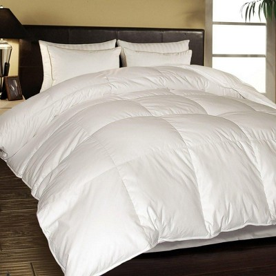 Blue Ridge Egyptian Cotton Cover White Down Optimal Loft Comforter 1000 Thread Count - White