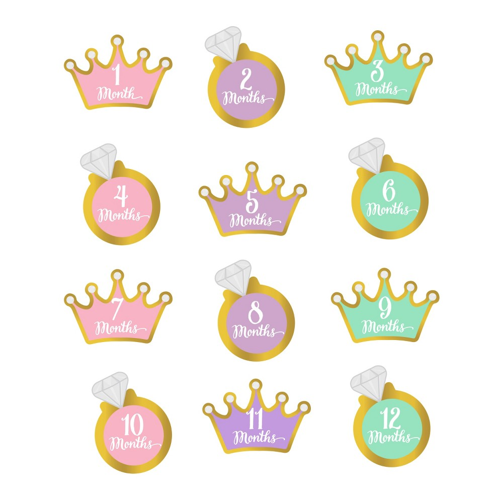 Image of Pearhead Baby Milestone Stickers - Girl