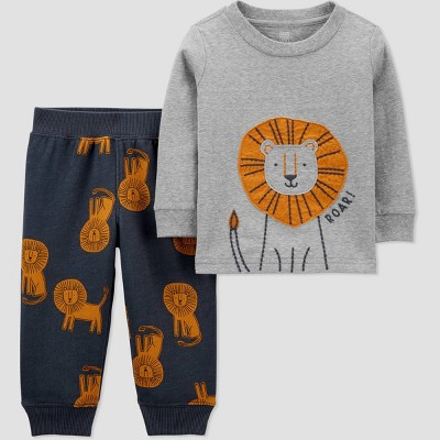 Baby Boys' 2pc Lion Top & Bottom Set - Just One You® made by carter's Gray 6M
