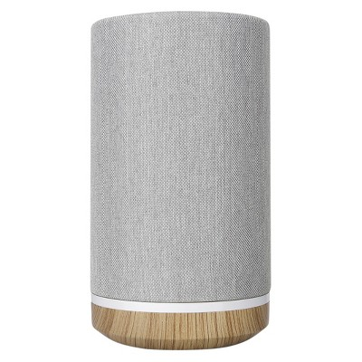Knit Tower, Bluetooth Wireless Speaker - Light Gray/Wood