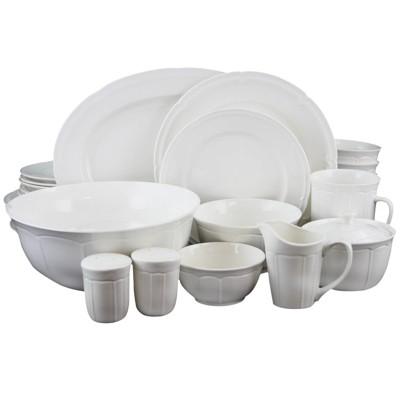 Gibson Home 37pc Stoneware Paton Dinnerware Set