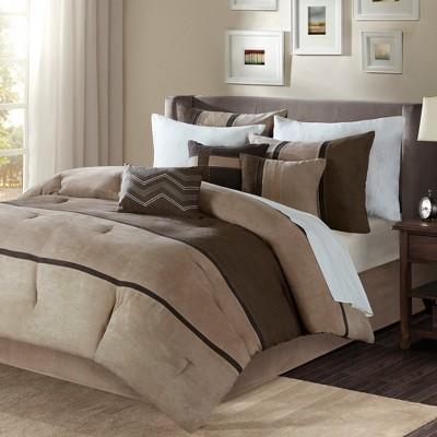 Brown Overland Comforter Set (Queen)7pc