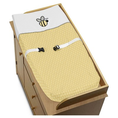 Sweet Jojo Designs Honey Bee Changing Pad Cover - Yellow