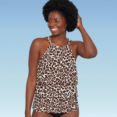 Women's Slimming Control High Neck Tiered Tankini Top - Dreamsuit by Miracle Brands