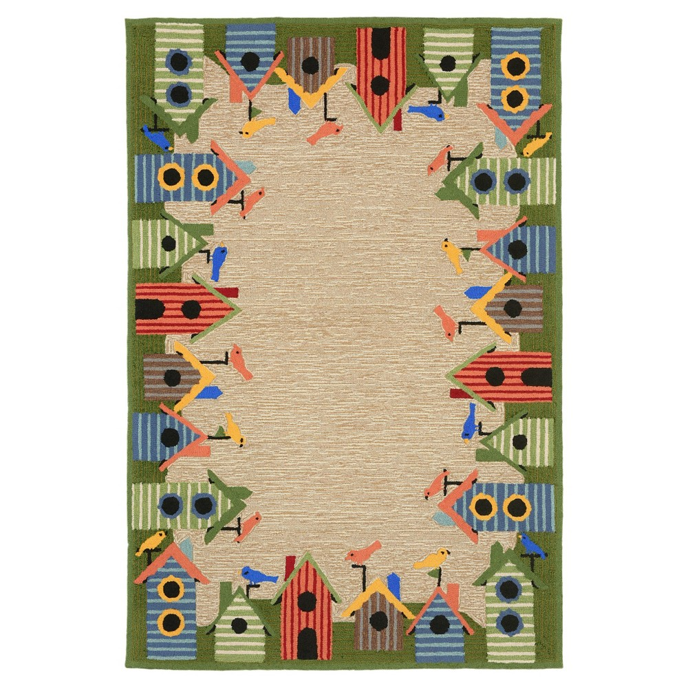 Image of Ravella Birdhouse Rug - Natural - (5'X7'6) - Liora Manne