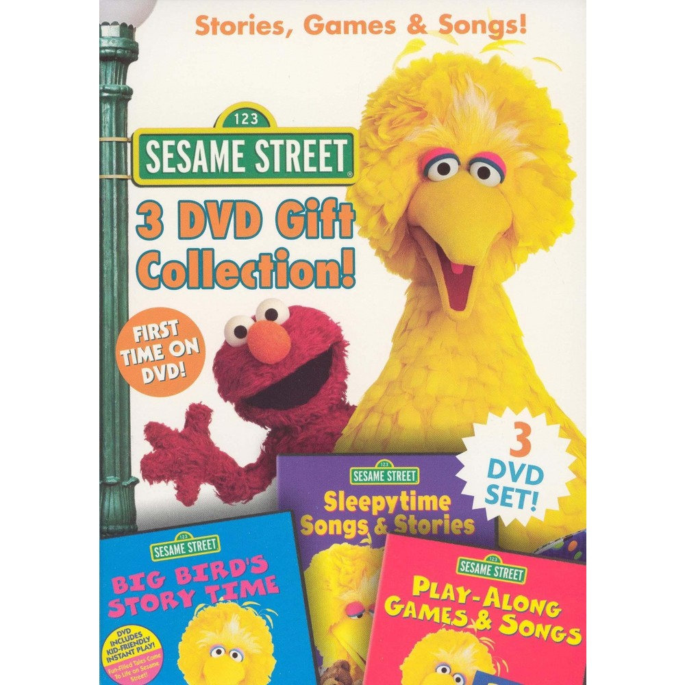 Sesame Street: Stories, Games & Songs! 3 Dvd Gift Collection! (3 Discs) (dvd_video)