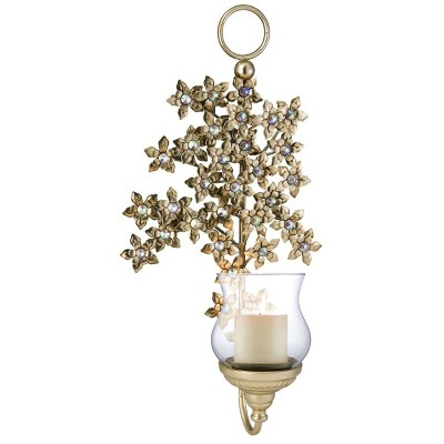 Ok Lighting Virgo Orchid Wall Candleholder (Candle Not Included)