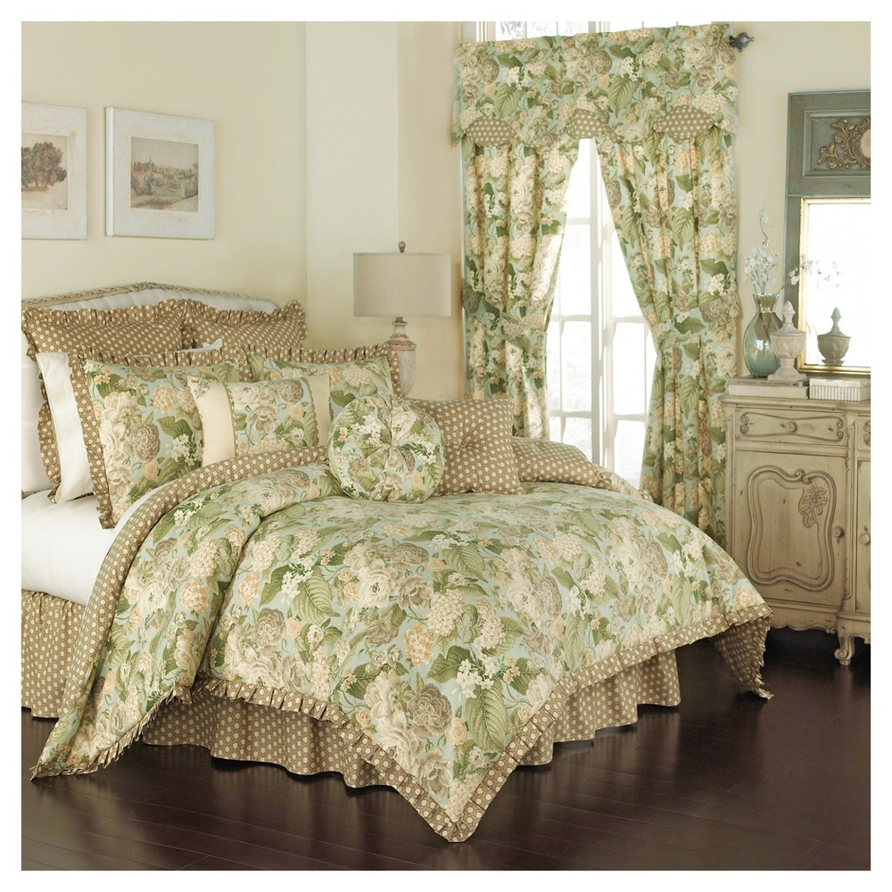 Floral Garden Glory Comforter Set (Queen) 4pc - Waverly, Multicolored