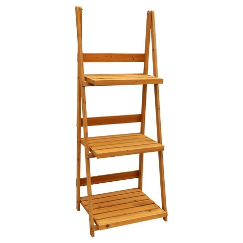 Rectangle 3 Tier A-frame Plant Stand - Brown - Leisure Season - image 1 of 1