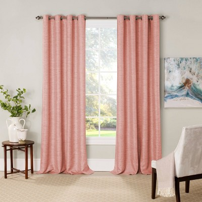 Newport Blackout Window Curtain Panel Pink - Eclipse