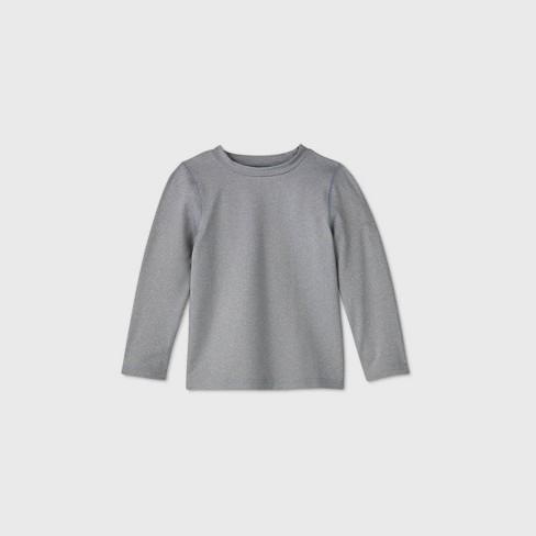 Toddler Boys' Long Sleeve Rash Guard Swim Shirt - Cat & Jack™ Gray - image 1 of 2