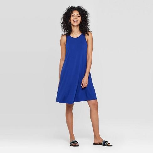 Women's Regular Fit Sleeveless Round Neck Knit Tank Dress - A New Day™ - image 1 of 3