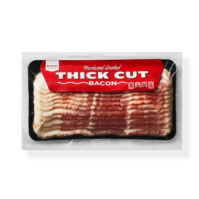 Hardwood Smoked Thick Cut Bacon - 16oz - Market Pantry™