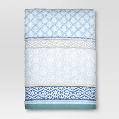 Pattern Filled Stripe Bath Towel - Threshold™