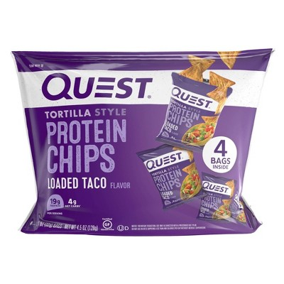 Quest Tortilla Style Protein Chips - Loaded Taco - 4ct/4.5oz