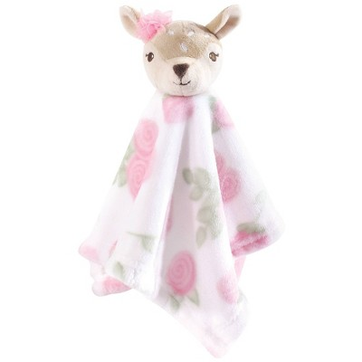 Hudson Baby Unisex Baby Animal Face Security Blanket - Fawn One Size
