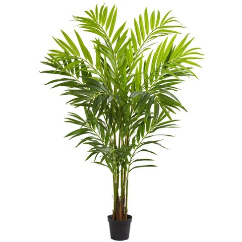 8 Artificial King Palm Tree In Pot Green Nearly Natural Target