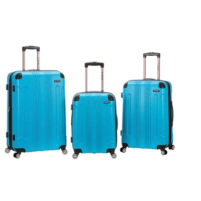 Rockland 3pc ABS Luggage Set - Turquoise