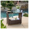 Bahama Wicker Bar Cart - Christopher Knight Home - image 2 of 4