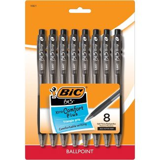 8ct Ballpoint Pens BU3 Black - BIC