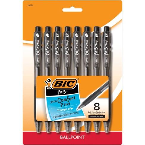 8ct Ballpoint Pens BU3 Black - BIC - image 1 of 4