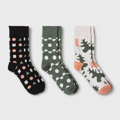 Pair of Thieves Men's Crew Socks 3pk - Green/Pink 8-12
