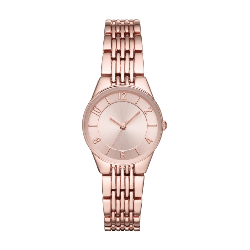 Image of Women's Slim Bracelet Watch - A New Day Rose Gold, Size: Small, Pink Gold
