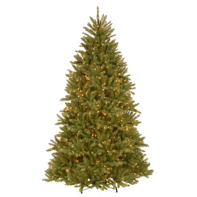 7.5ft National Christmas Tree Company Pre-Lit Dunhill Fir Hinged Full Artificial Christmas Tree with 750 Clear Lights