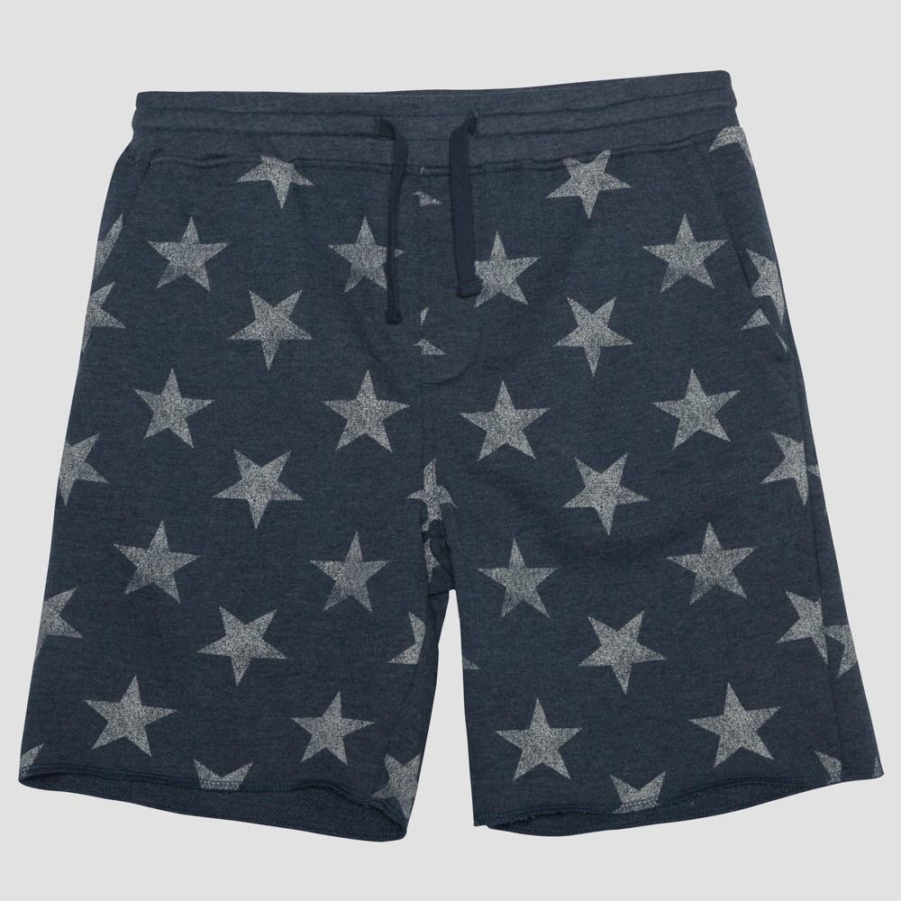 Well Worn Men's 10 Americana Star Knit Jogger Shorts - Regatta 2XL, Blue