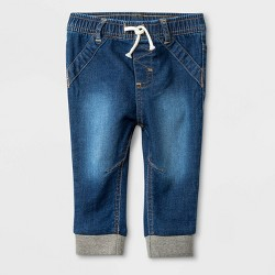 Baby Medium Wash Knit Repreve Denim Jeans - Cat & Jack™ Blue