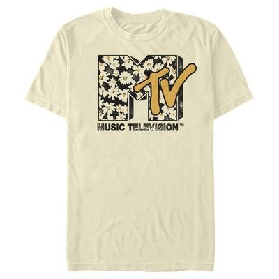 Men's MTV Floral Print Logo T-Shirt