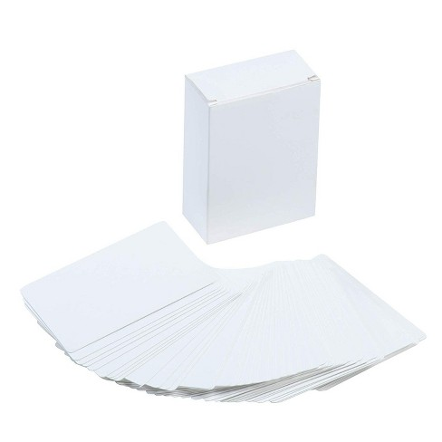 Juvale 216-Piece Blank Index Cards Square Dry Erase Flashcard Note Cards for DIY Memory Game Study School Language Learning 420 GSM 2.5 x 3.5 inches - image 1 of 4