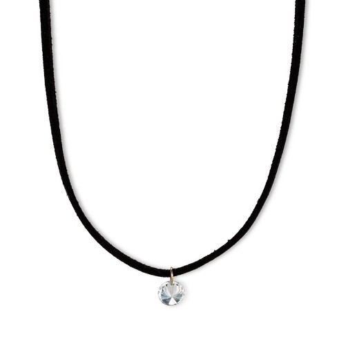 "Choker with Cubic Zirconia - 12"" - Black - image 1 of 2"