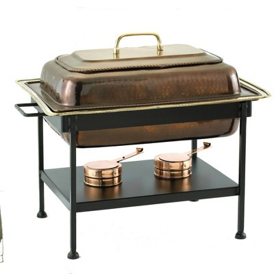 Old Dutch 8qt Steel Antique Chafing Dish Copper