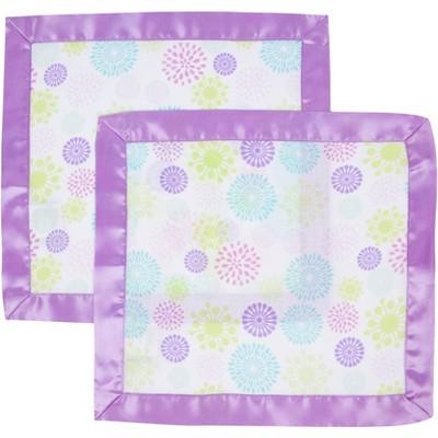 MiracleWare Muslin Security Blanket Color Bursts - 2 Pack