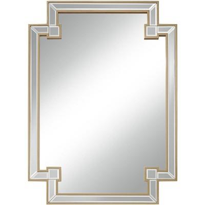 "Noble Park Gufin Gold Leaf 27"" x 38"" Cut Corner Rectangular Mirror"